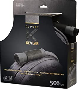 DuPont KV82001 Kevlar 50' Heavy Duty Fabric Hose, Black