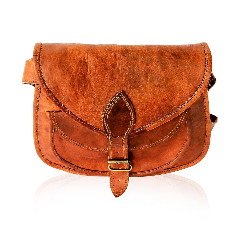 Pulpypapaya Leather Women Satchel Handbagsr Women's Crossbody Shoulder Messenger Handbag