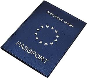 Cartera para Pasaporte Made in UE in 3 Colores (Azul/Plata): Amazon.es: Equipaje