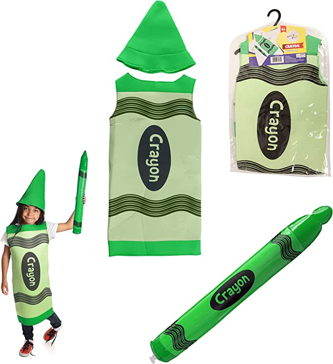 DRESS 2 PLAY Crayon Pretend Costume, Dress up Set with Hat and Blow up Crayon