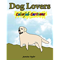 Dog Lovers Colorful Cartoon Illustrations