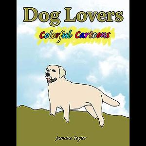 Dog Lovers Colorful Cartoon Illustrations