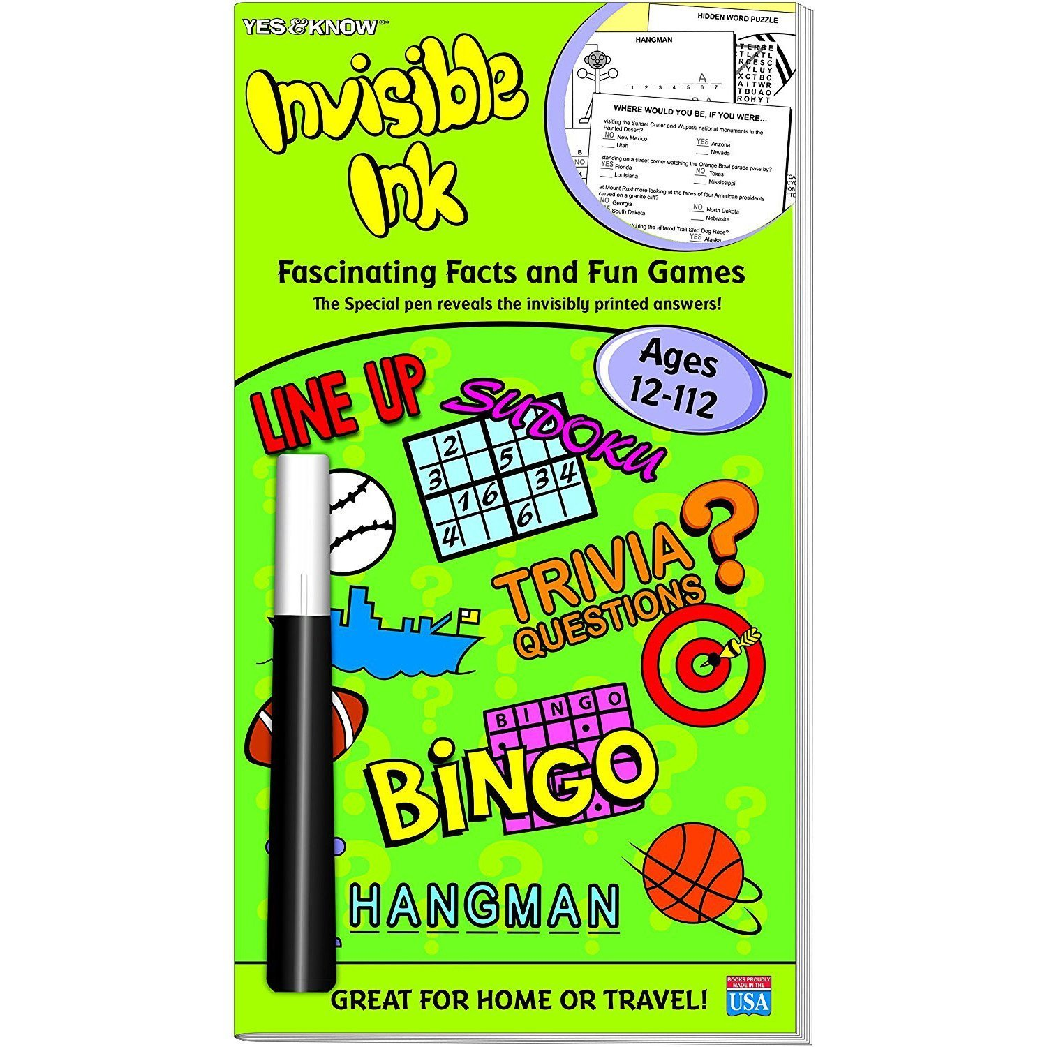 Invisible Ink Yes /& Know 8-88 Invisible Ink Yes /& Know 11-111 and Yes /& Know Fascinating Facts 12-112 Bundle
