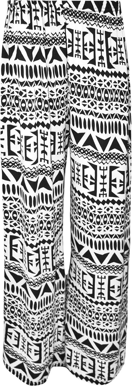 WearAll Plus Size Women's Print Palazzo Trousers - Aztec - US 20-22 (UK 24-26)