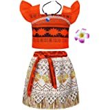 Jurebecia Girls Princess Costume Ruffle Sleeve Dress up Fancy Birthday Party Cosplay Halloween Christmas Outfit 1-10 Years
