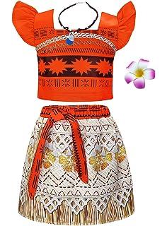 thematys Moana Hawaiian Disfraces para niños Cosplay & Carnival ...