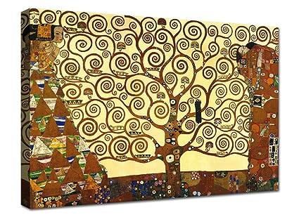 Quadro Klimt Albero della Vita 100x70 cm Quadri Moderni Soggiorno XXL  Stampa su Tela Canvas