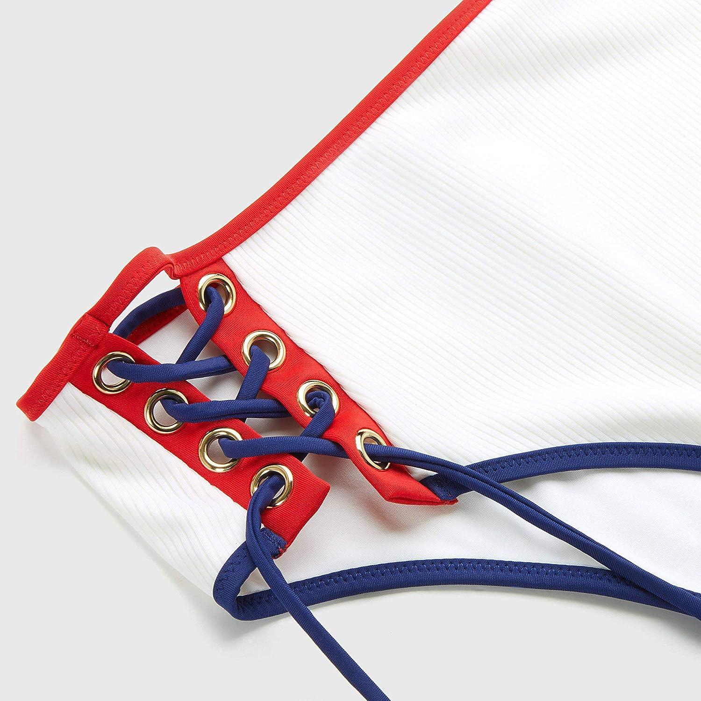 Ba/ñador de cintura alta para mujer con cordones y trenzas laterales Yamamamay Yacht Club