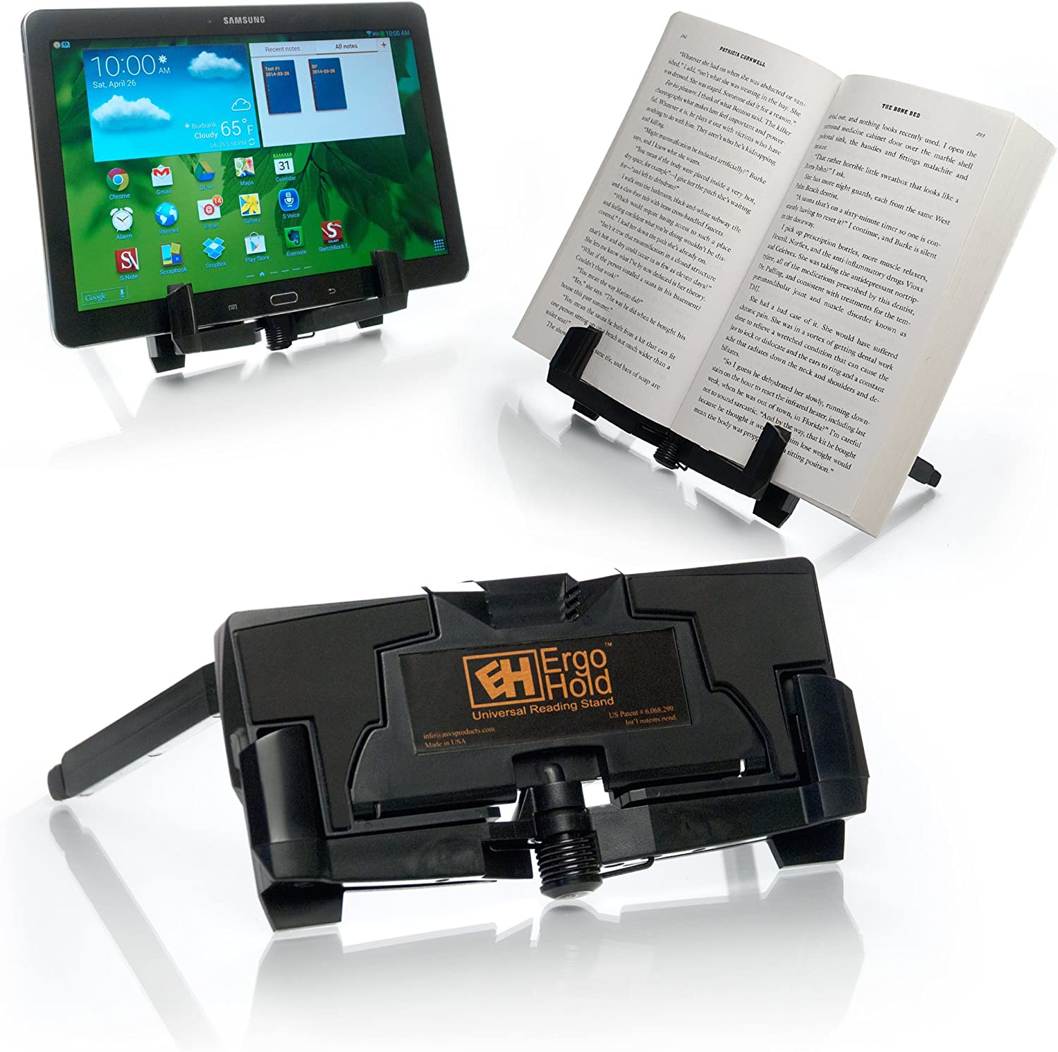 Ergohold Universal Stand Tablet Book Stand E Reader And Book Holder Read Watch Videos Hands Free Amazon Ca Computers Tablets