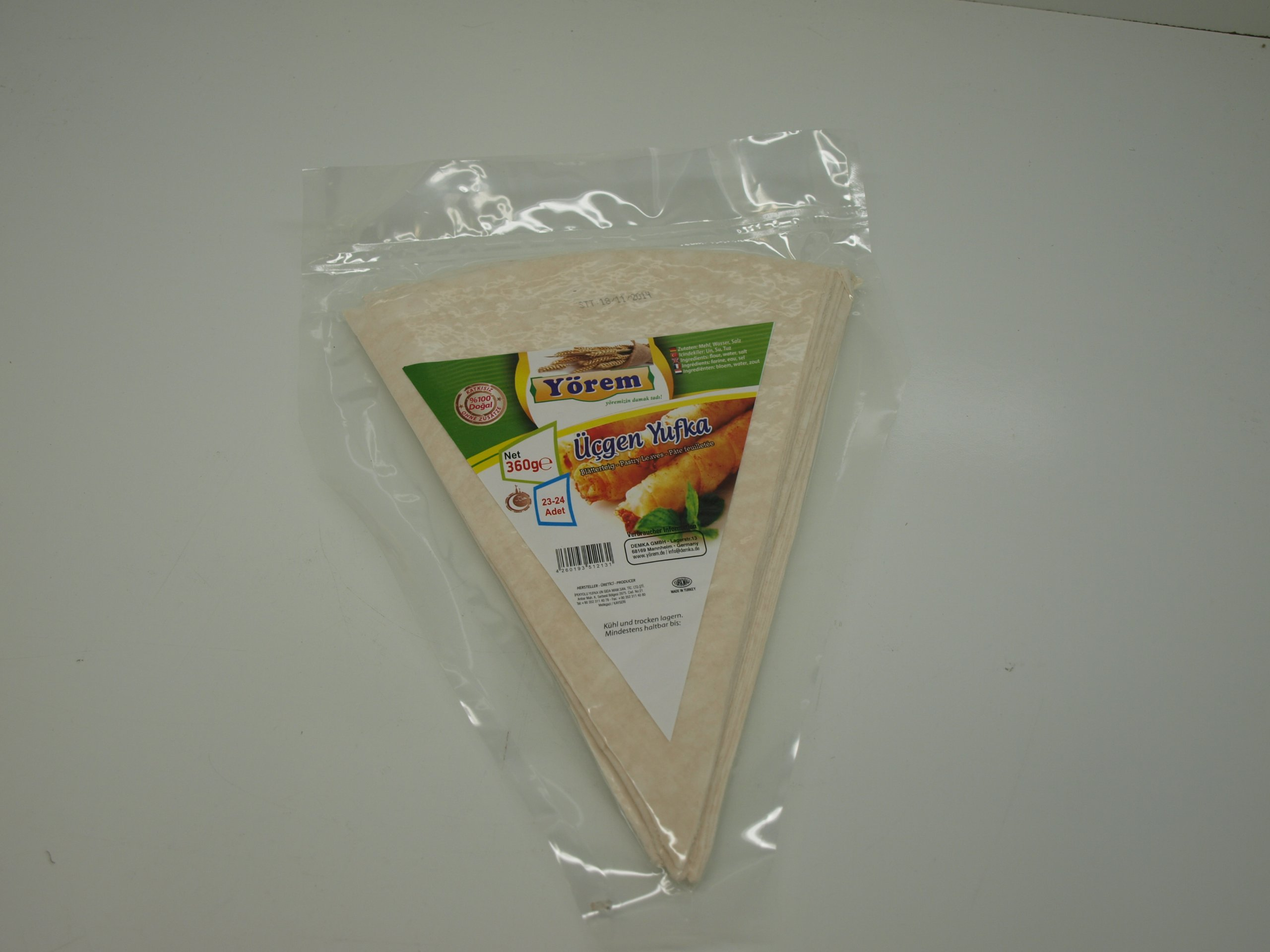 Pastry Leaves Yufka Triangle 2 Pack - 46 Pieces
