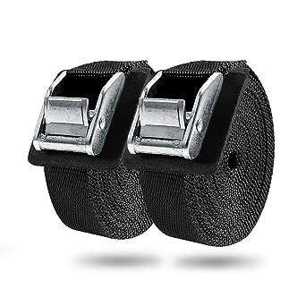 Emooqi Cinghie per Trasporto Nero Cinghie di Fissaggio Cinghie di Tensione