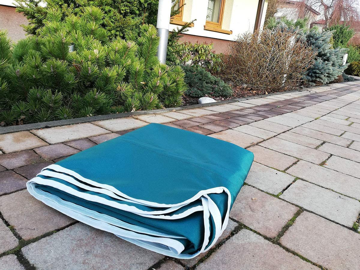Ferocity Universal coloured replacement canopy for Swing Cover Patio Hammock Cover Top Garden Outdoor size 210 x 145 cm Len Grey 101