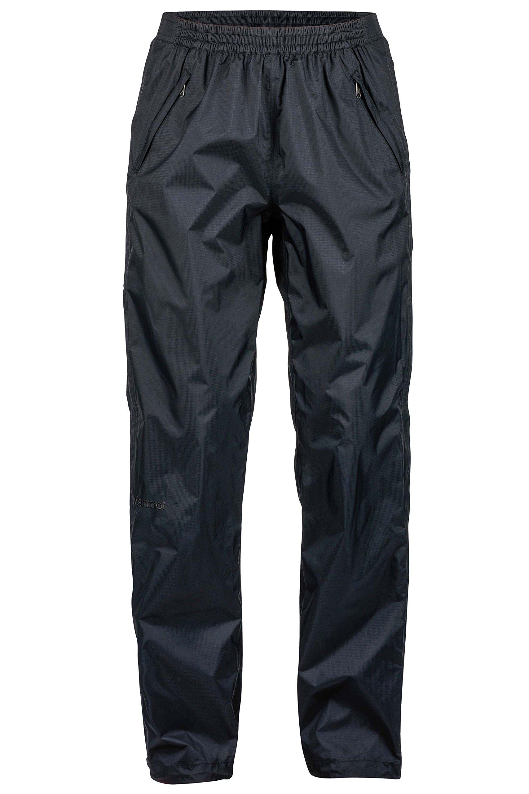 Marmot PreCip Women's Lightweight Waterproof Full-Zip Pant, Jet Black, X-Large