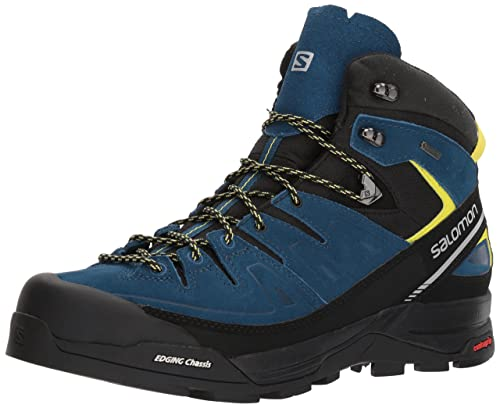 62c3490997c8 Salomon Men s X Alp Mid LTR GTX High Rise Hiking Boots Blue  Amazon ...