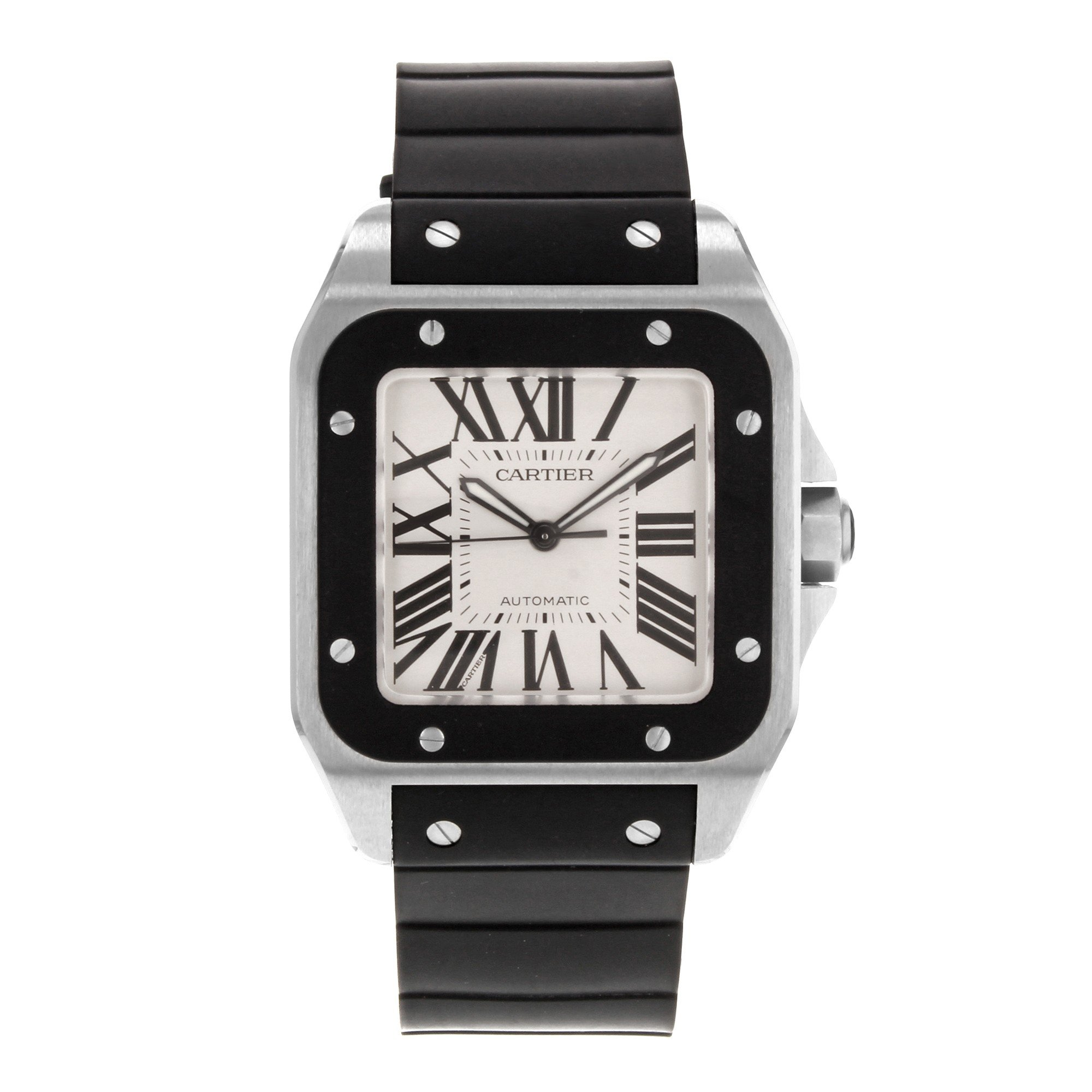 Cartier Santos 100XL W20121U2 Stainless Steel Automatic Men's Watch (Certified Pre-owned)