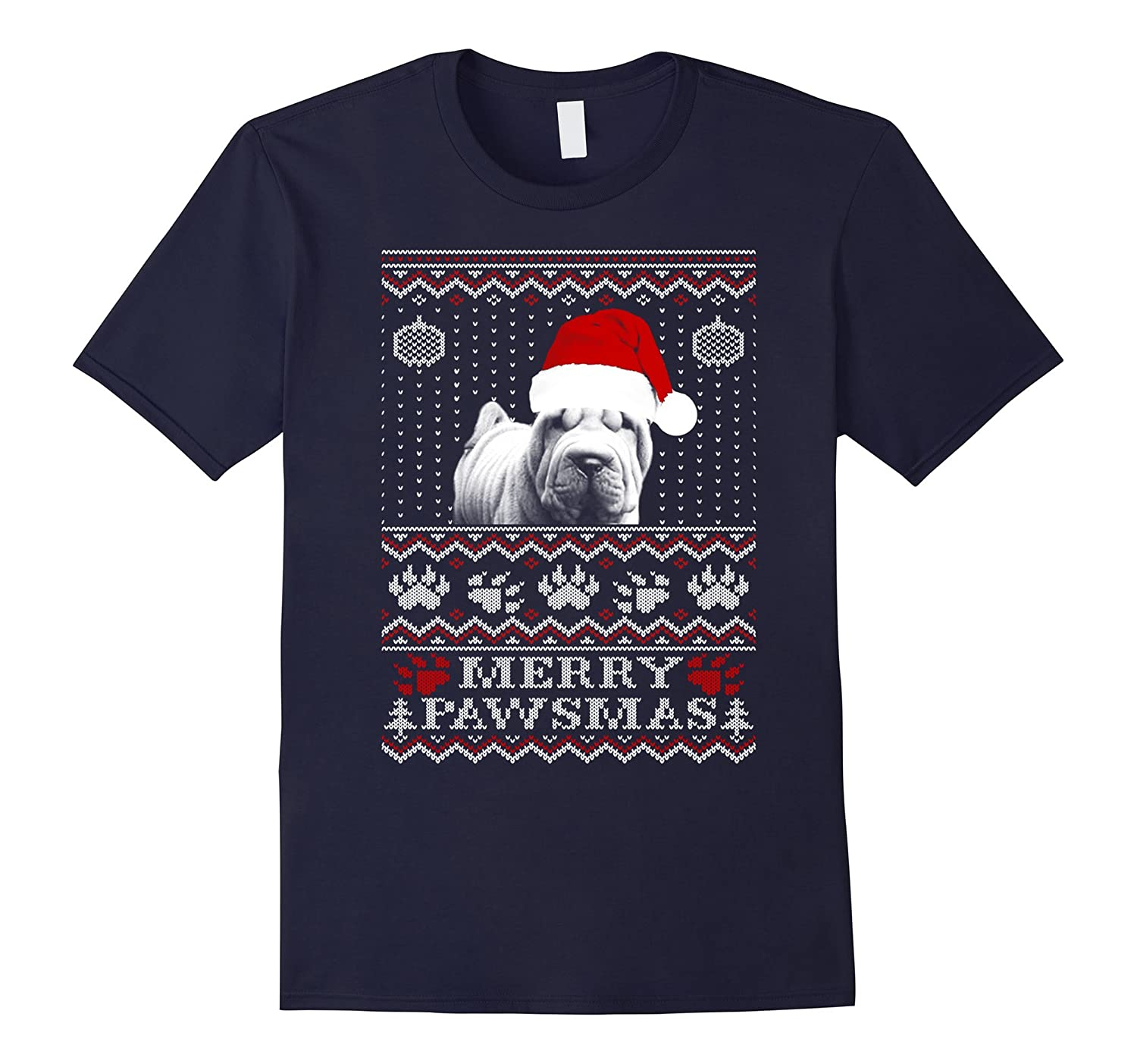Bulldog Pawsmas Christmas t-shirt-Art