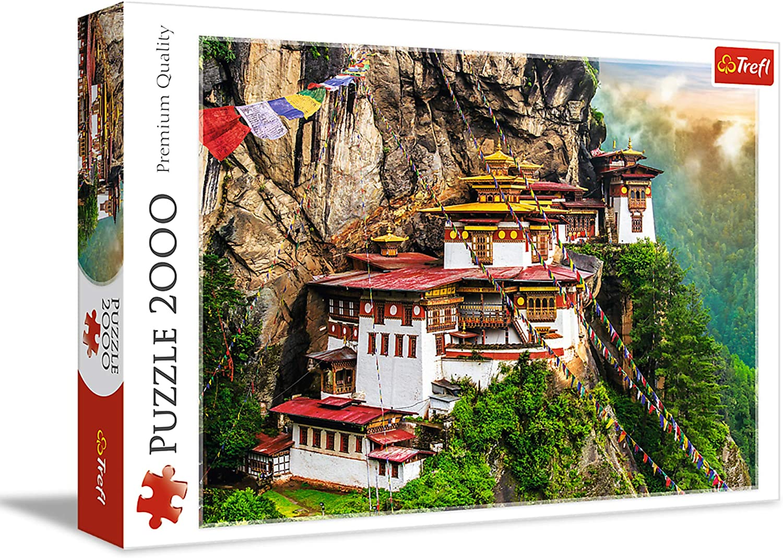 Trefl 2000 Piece Jigsaw Puzzle, Tiger's Nest, Bhutan
