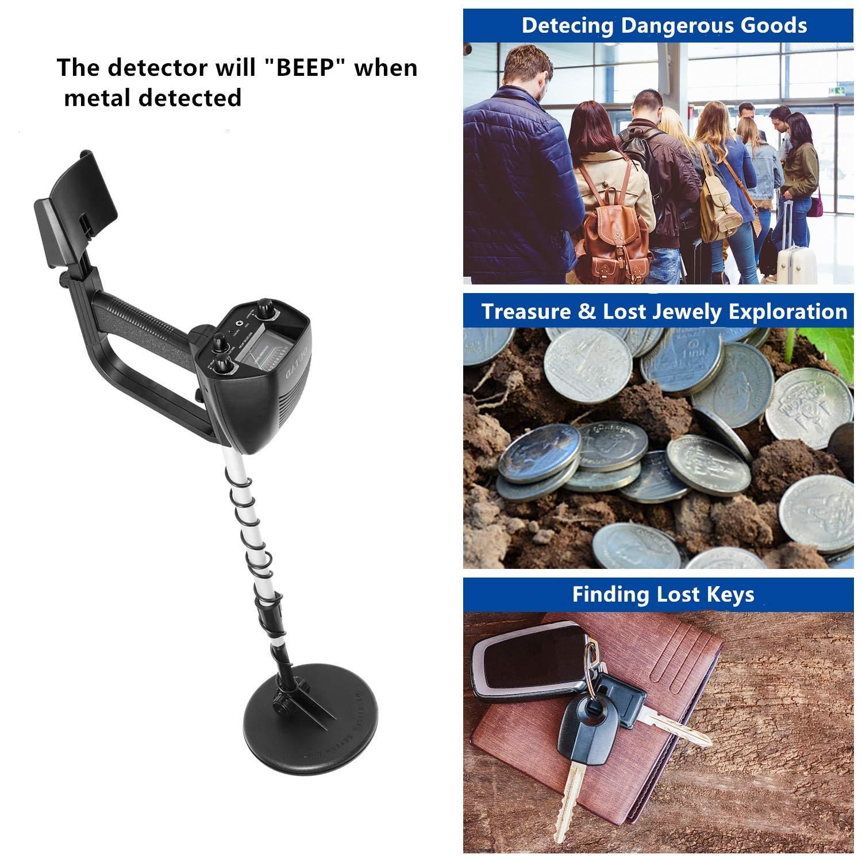 Brookfendi Detector de Metales Alto Sensible LCD Ajustable Mercancías peligrosas Clave Joyas Monedas Buscar Bajo el Agua Submarino Herramientas de detección ...