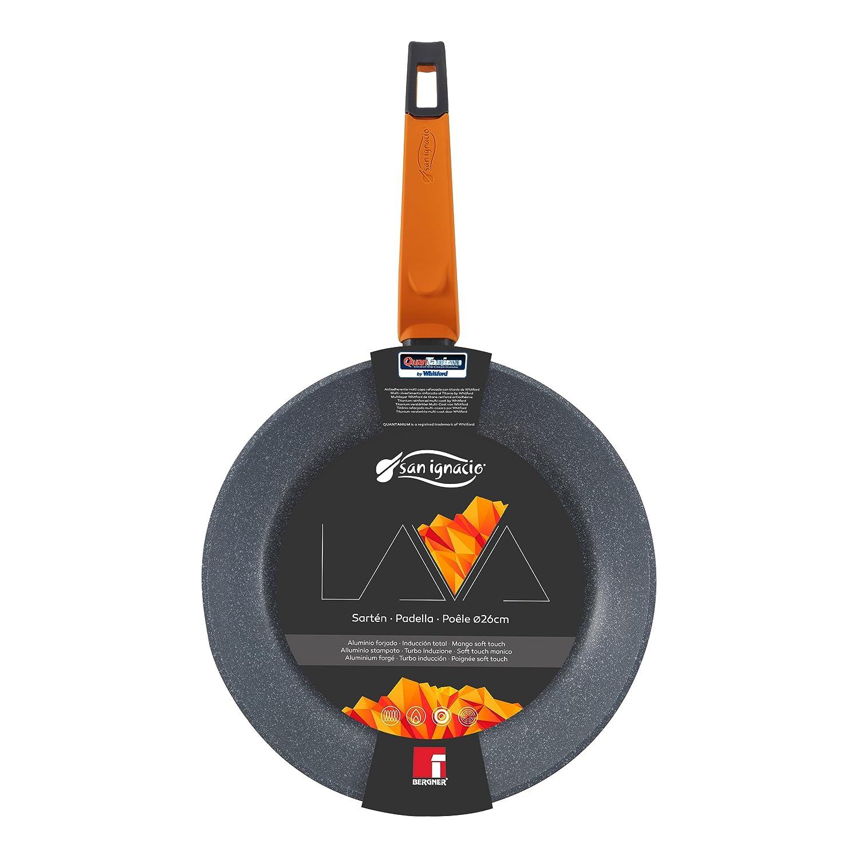 Amazon.com: San Ignacio Lava Frying Pan, Cast Aluminium, Grey, 26 cm: Kitchen & Dining