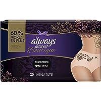 Always Discreet Boutique Incontinence Underwear for Women, 20 unidades