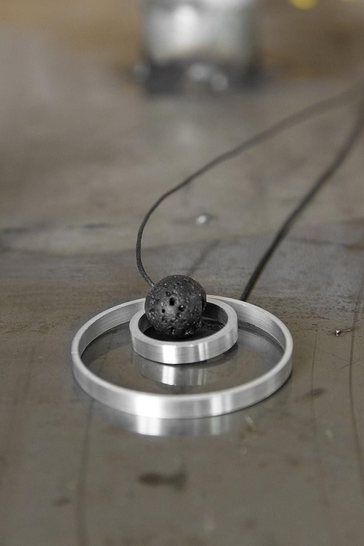Aluminium handgefertigte Halsketten mit Vesuv Lavastein