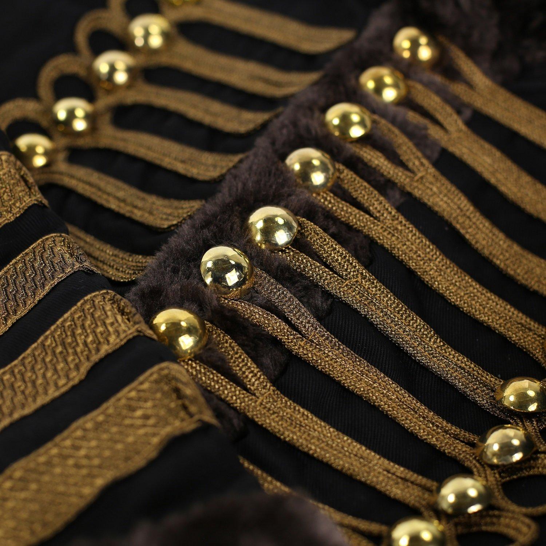 Ro Rox Chaqueta Desfile Militar para Mujer en Negro y Marrón con Piel  Sintética  Amazon.es  Ropa y accesorios d340576071232