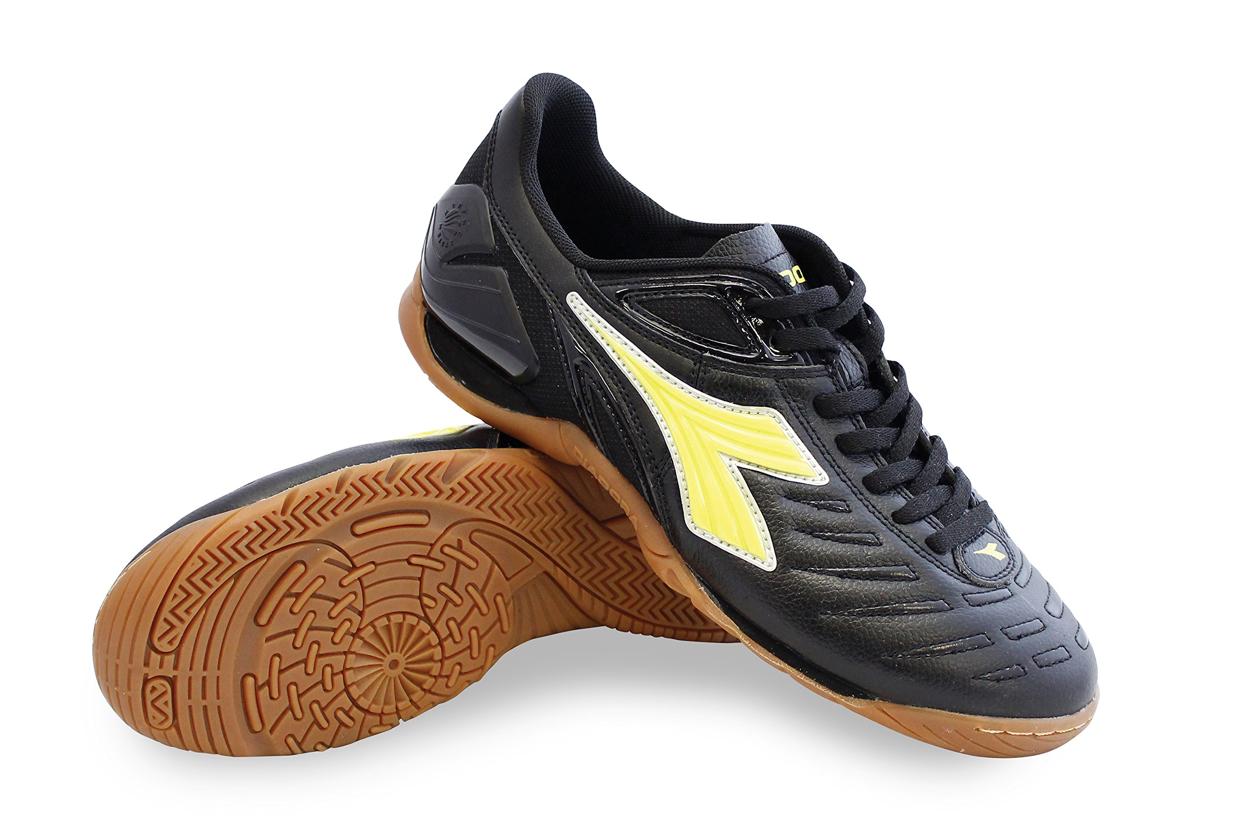 Diadora Maracana 18 ID Black/Fluo Yellow Men's 9, Women's 10.5 Medium