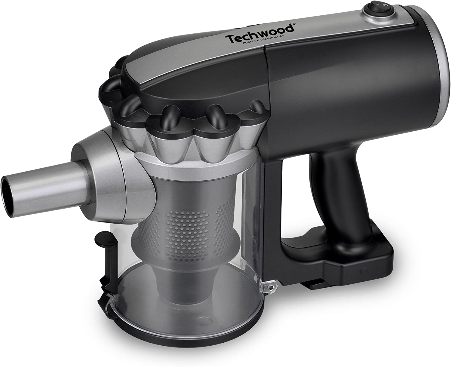 Techwood TAS-655 Aspirateur balai 2 en 1, 600 W, 0.5 liters, Noir/Orange Noir/Argent
