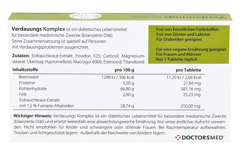 Verdauungs Komplex - Tabletas naturales para el ...
