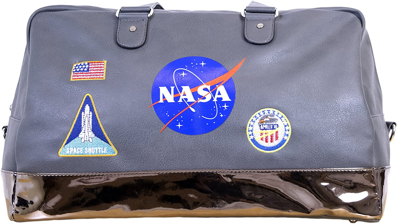 NASA Lifestyle Travel Grey Accessory Duffel Bag
