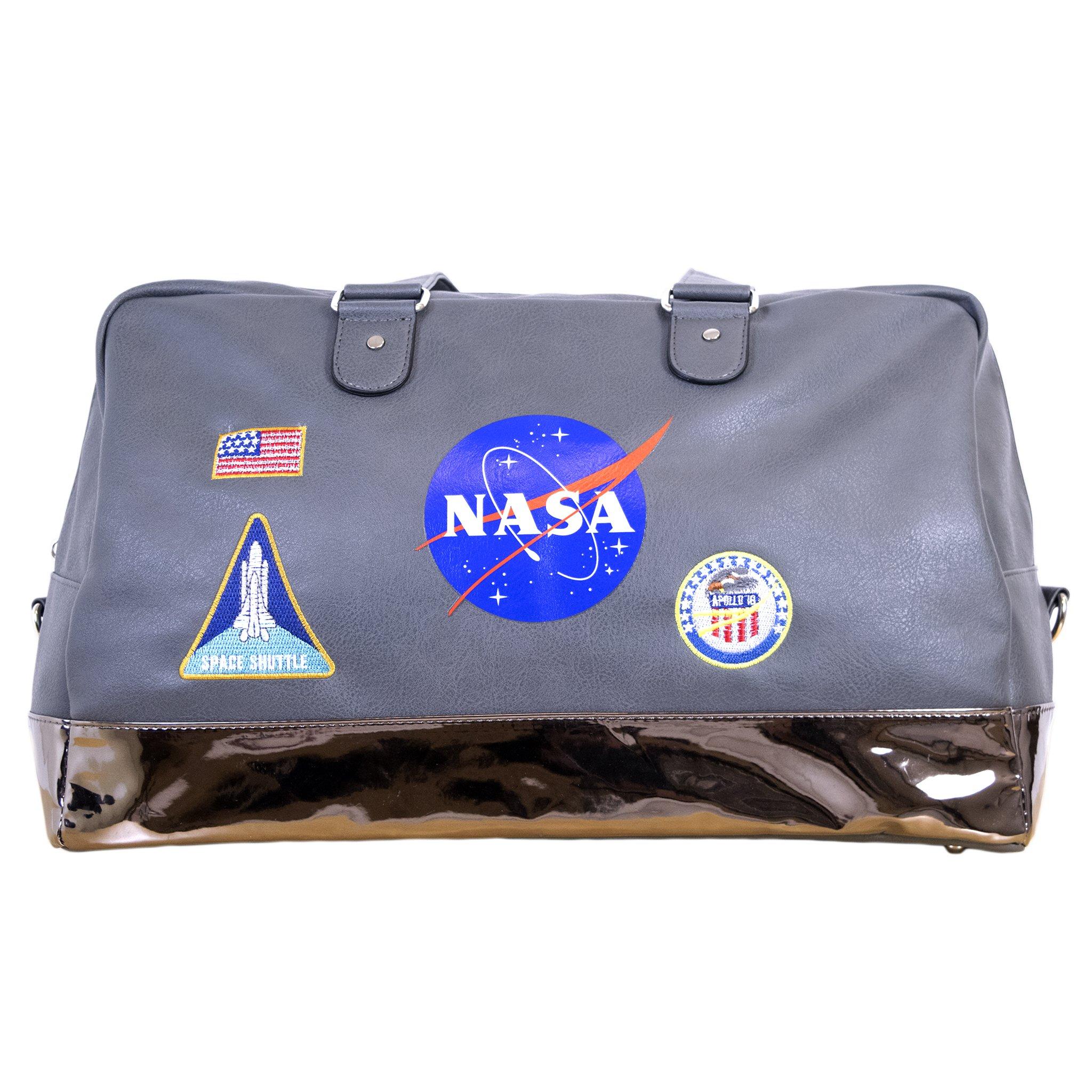 NASA Lifestyle Travel Gray Duffel Bag