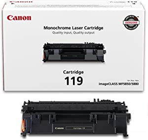 Canon Genuine Toner, Cartridge 119 Black (3479B001), 1 Pack, for Canon imageCLASS MF5800 /5900 / 6100 Series, MF410 Series, LBP6300 / 6600 Series, LBP250 Series Laser Printers