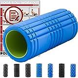 POWRX Faszienrolle inkl. Workout I Massagerolle Foamroller Pilatesrolle Schaumstoffrolle Yogarolle I ca.31, 33 und 38cm