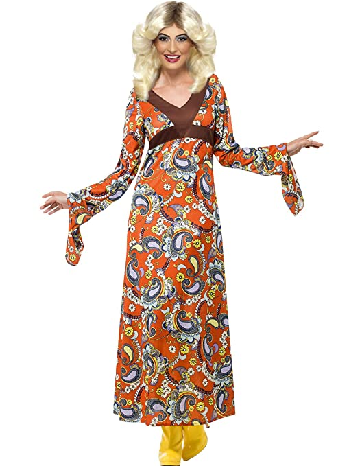 Hippie Costumes, Hippie Outfits Woodstock Maxi Dress Adult Costume - Medium $64.89 AT vintagedancer.com
