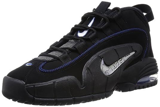 Amazon.com   Nike Mens Air Max Penny Black/White/Gm RYL/Mtllc Slvr Basketball Shoe 9.5 Men US   Running