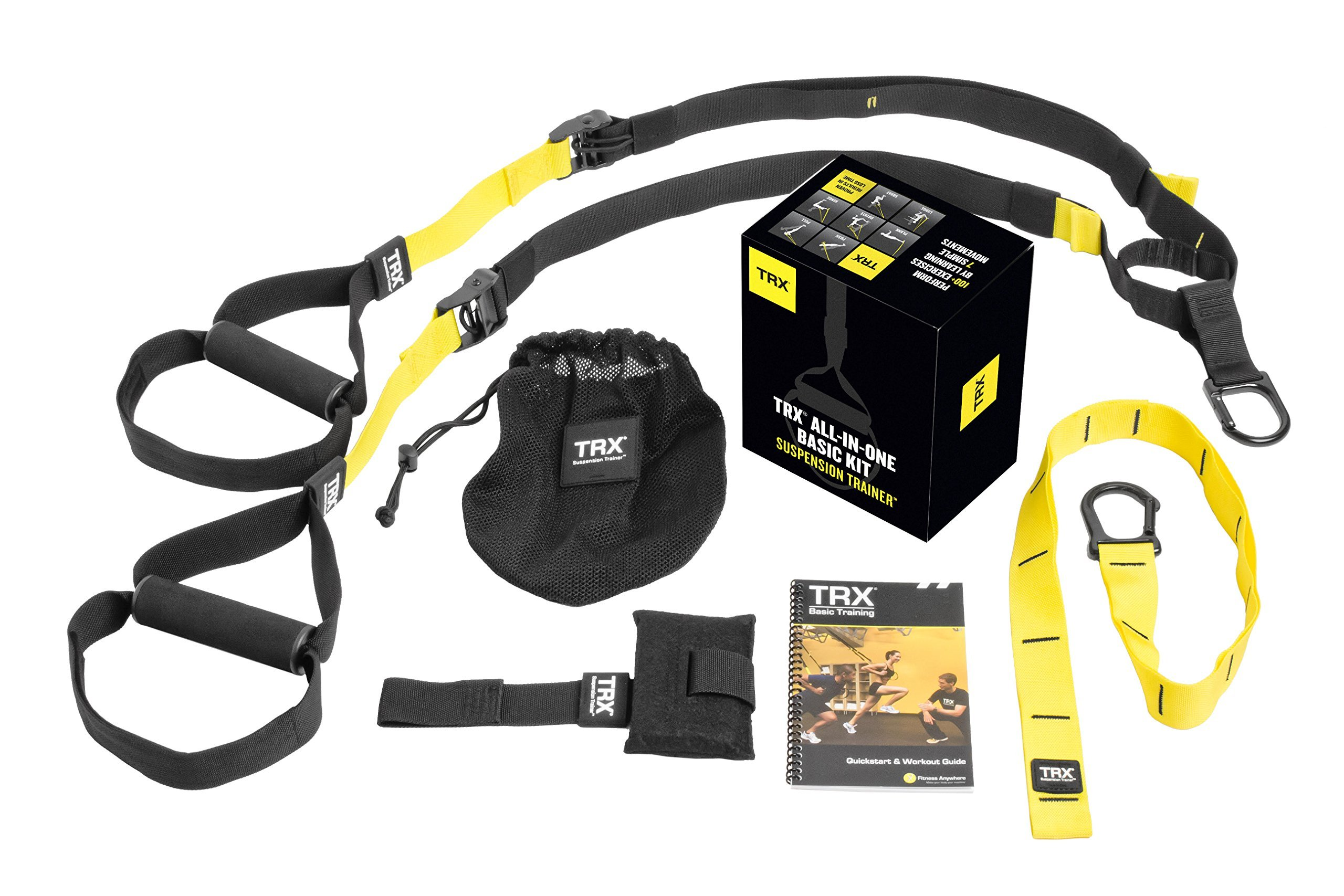 TRX Training – Suspension Trainer Basic Kit + Door Anchor, Complete Full Body Workouts Kit for Home and on the Road by TRX
