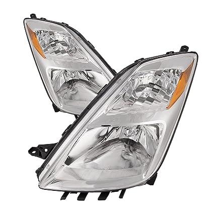 Amazon Com Headlights Depot Replacement For Toyota Prius Halogen