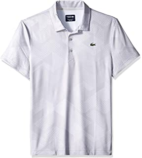 1f24379b Lacoste Men's Sport Short Sleeve Ultra Dry All Over Print Sublimation Polo