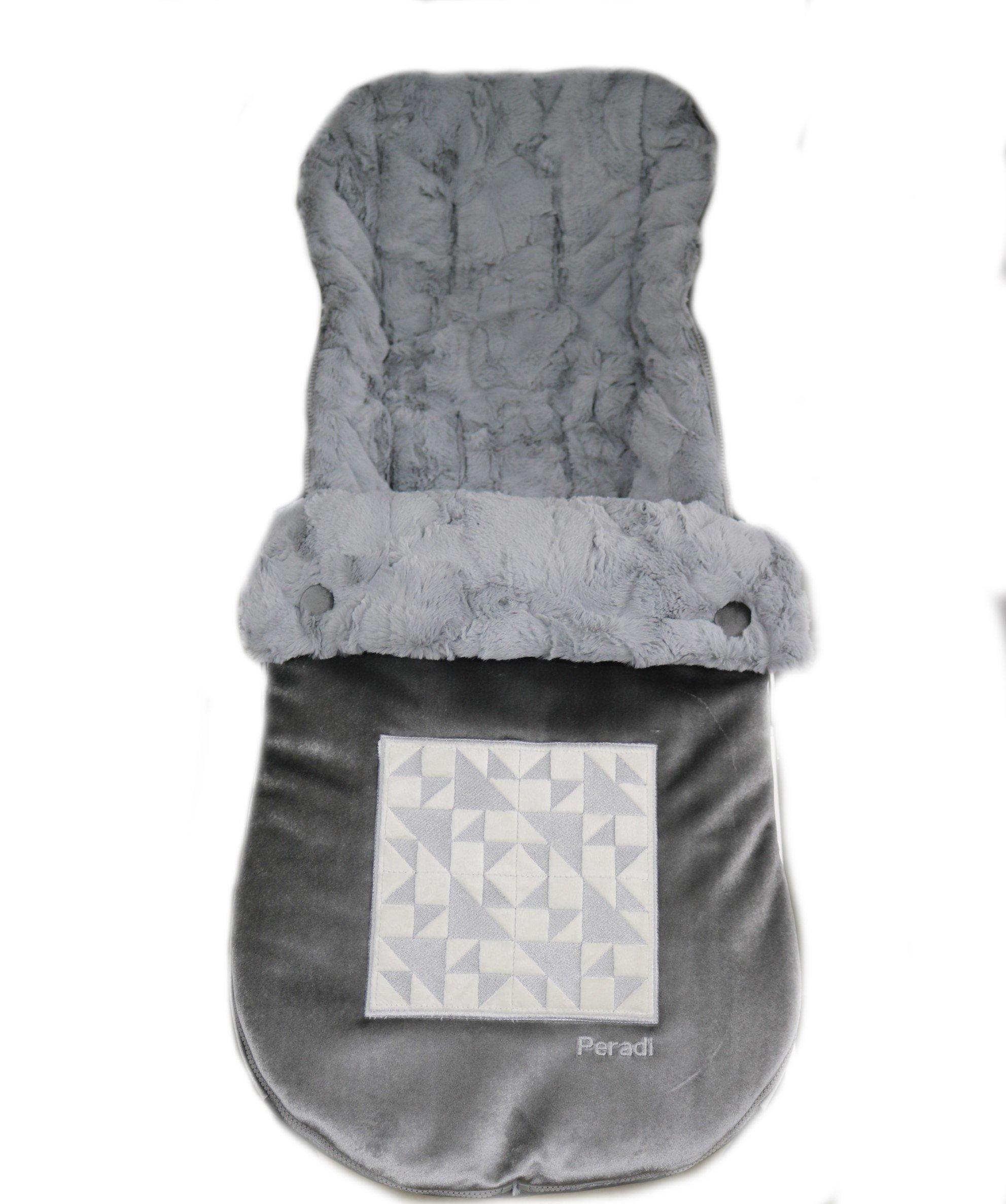 Peradi Baby Stroller Bunting Bags, Geo GreyIvory
