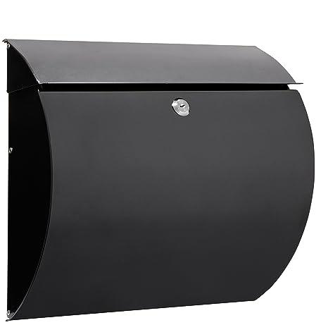 Arregui E5404 Buzón para exterior (acero), Negro, 330 x 375 x 105 mm