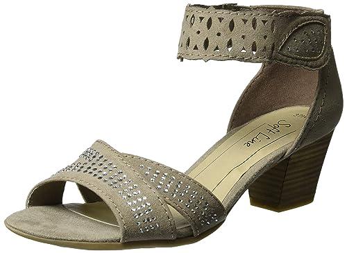 Womens 28362 Wedge Heels Sandals Soft Line UXKMXs7QpM