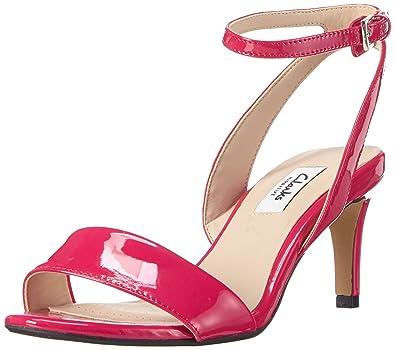 01e97ca9 Clarks Women's Amali Jewel Fuchsia Leather Fashion Sandals-6.5 UK ...