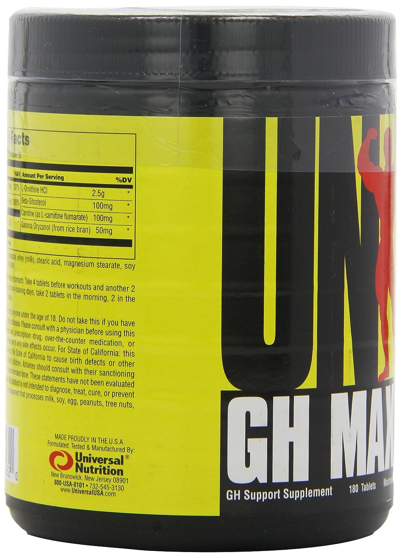 Universal Nutrition GH Max Standard - 180 Tabletas: Amazon.es: Salud y cuidado personal