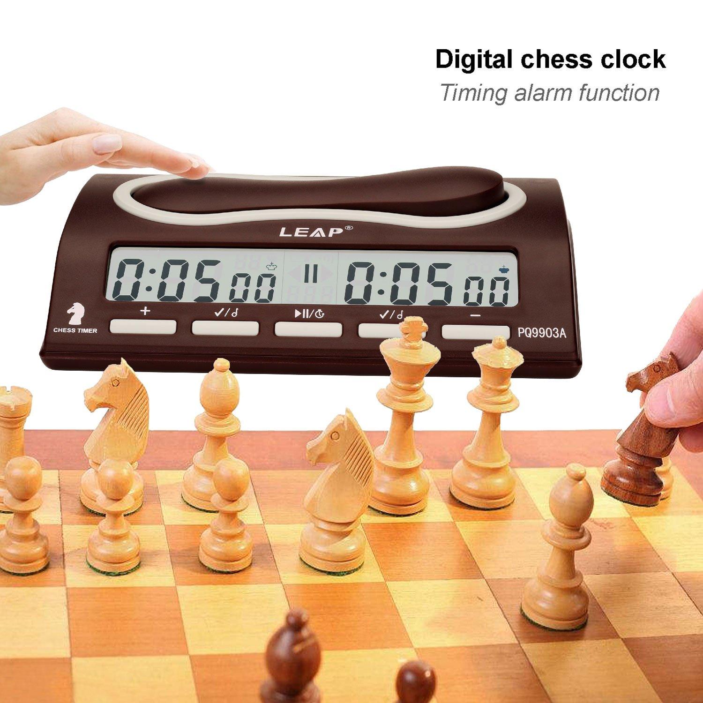Compra CFtrum Multifuncional Profesional Digital Reloj de Ajedrez, Contador de Tiempo / Temporizador de Cuenta Atrás / Cuenta Regresiva, Reloj Electrónico ...