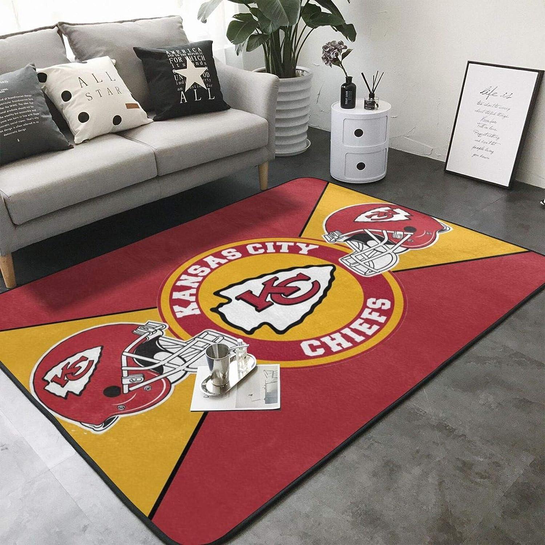 Team ProMark Ultra Soft Area Rugs,Anti-Slip American Football Mats Carpets for Bedroom Floor Sofa Living Room 80 x 58in