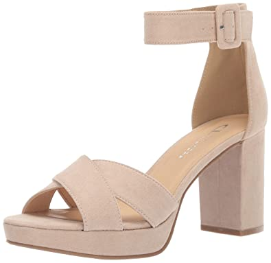 da74c89013 CL by Chinese Laundry Women's Gala Heeled Sandal, Nude Suede, ...