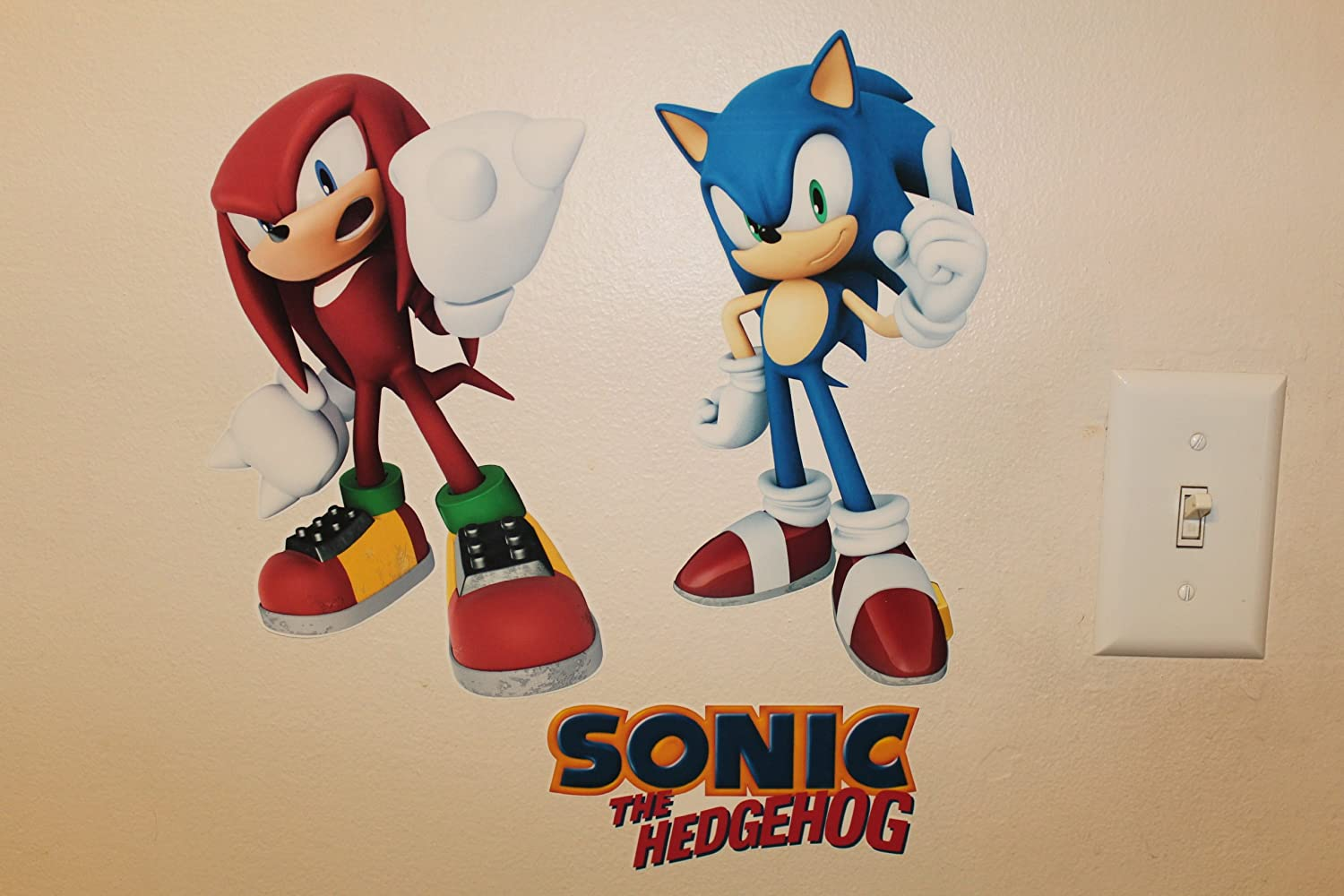 Sonic Bedroom Decor Sonic The Hedgehog Tails Knuckles And Shadow Removable Wall