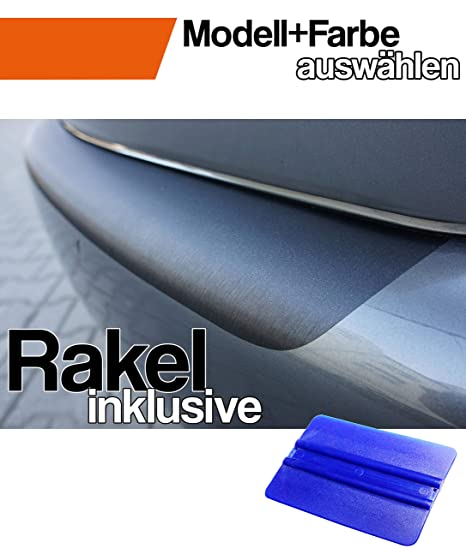 4er F36 Grand Coupe Ladekantenschutz Lackschutzfolie von CCW/© mit Profi-Rakel in 3D Carbon Schwarz