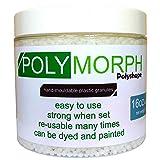 Polyshape Polymorph hand moldable plastic 16oz tub [plastimake, thermoplastic] (Color: Natural)