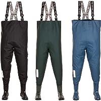 3Kamido® Vadeadores de Pesca para jóvenes, Botas de Pesca Adolescentes, zancudas Junior, Negro, Verde y Azul Denim 36…